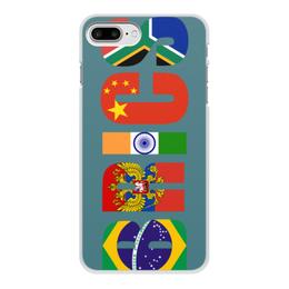"""Чехол для iPhone 8 Plus, объёмная печать """"BRICS - БРИКС"""" - россия, китай, индия, бразилия, юар"""