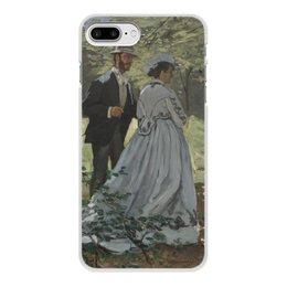 """Чехол для iPhone 8 Plus, объёмная печать """"Базиль и Камилла (картина Клода Моне)"""" - любовь, картина, импрессионизм, живопись, моне"""