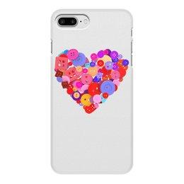"""Чехол для iPhone 8 Plus, объёмная печать """"День всех влюбленных"""" - любовь, день святого валентина, валентинка, i love you, день влюбленных"""