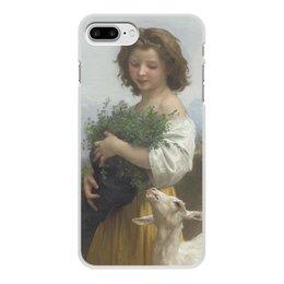 """Чехол для iPhone 8 Plus, объёмная печать """"Юная Эсмеральда (картина Вильяма Бугро)"""" - картина, академизм, живопись, бугро, крестьянка"""