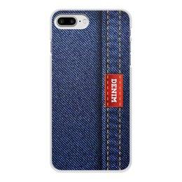 """Чехол для iPhone 8 Plus, объёмная печать """"Джинсовый арт"""" - абстракция, джинсы, ткань, jeans, denim"""