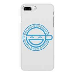 """Чехол для iPhone 8 Plus, объёмная печать """"Смеющийся человек"""" - призрак в доспехах, ghost in the shell, мотоко кусанаги, бюро общественной безопасности, ниихама"""