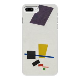"""Чехол для iPhone 8 Plus, объёмная печать """"Супрематизм. Живописный реализм футболиста"""" - футбол, картина, живопись, супрематизм, малевич"""