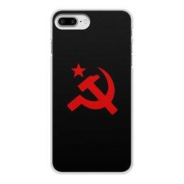 """Чехол для iPhone 8 Plus, объёмная печать """"Советский Союз"""" - ссср, русский, россия, советский союз, серп и молот"""
