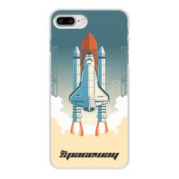 """Чехол для iPhone 8 Plus, объёмная печать """"Покорение космоса"""" - космос, ракета, астрономия, шатл, thespaceway"""