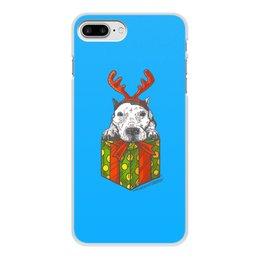 """Чехол для iPhone 8 Plus, объёмная печать """"новый год"""" - новый год, зима, собака, подарок, год собаки"""