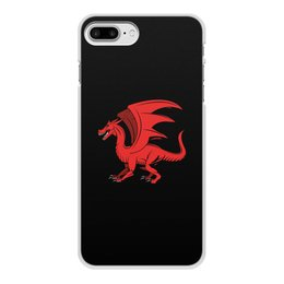 """Чехол для iPhone 8 Plus, объёмная печать """"дракон"""" - крылья, животные, дракон, dragon, динозавр"""