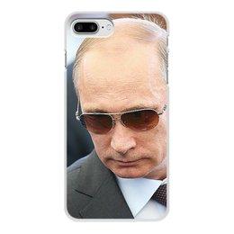 """Чехол для iPhone 8 Plus, объёмная печать """"ПУТИН. ПОЛИТИКА"""" - арт, стиль, очки, россия, президент"""