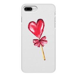"""Чехол для iPhone 8 Plus, объёмная печать """"Лединец"""" - сердце, любовь, лединец, iphone 8 plus"""