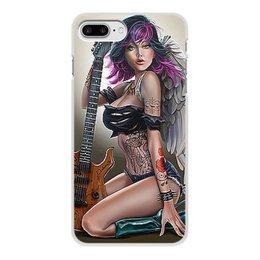 """Чехол для iPhone 8 Plus, объёмная печать """"МУЗЫКА ФЭНТЕЗИ"""" - девушка, гитара, стиль, красота, татуировка"""