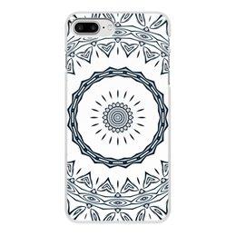 """Чехол для iPhone 8 Plus, объёмная печать """"Барабан Альт"""" - музыка, подарок, абстракция, мандала"""