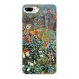 "Чехол для iPhone 8 Plus, объёмная печать ""Сад на улице Корто (""Сад на Монмартре"") (Ренуар)"" - арт, цветы, картина, живопись, ренуар"
