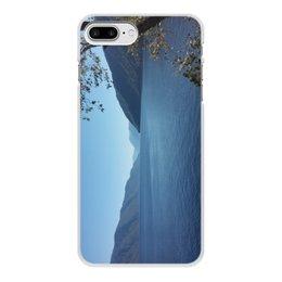 """Чехол для iPhone 8 Plus, объёмная печать """"Удивительный Алтай"""" - лето, природа, горы, горный алтай, телецкое озеро"""
