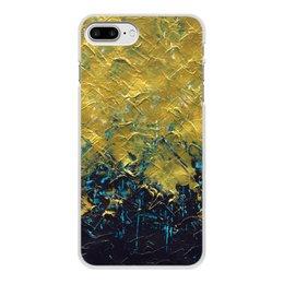 """Чехол для iPhone 8 Plus, объёмная печать """"Abstract"""" - картина, разводы, абстракция, живопись, флюид"""