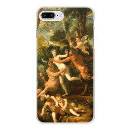 """Чехол для iPhone 8 Plus, объёмная печать """"Пан и Сиринга (Никола Пуссен)"""" - картина, живопись, мифология, пуссен, классицизм"""