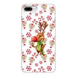 """Чехол для iPhone 8 Plus, объёмная печать """"новый год"""" - новый год, зима, подарки, снежинки, олень"""