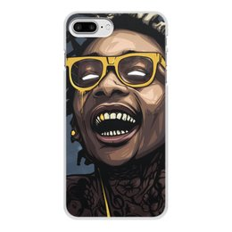 "Чехол для iPhone 8 Plus, объёмная печать ""WizKhalifa"" - music, rap, star, wizkhalifa, digitalart"