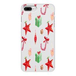 """Чехол для iPhone 8 Plus, объёмная печать """"новый год"""" - конфеты, новый год, подарки, рождество, christmas"""