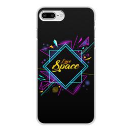 """Чехол для iPhone 8 Plus, объёмная печать """"Love Space"""" - звезды, космос, вселенная"""