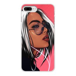 "Чехол для iPhone 8 Plus, объёмная печать ""Music dream"" - music, girl, digitalart, pink"