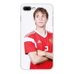 """Чехол для iPhone 8 Plus, объёмная печать """"Мариу Фернандес"""" - цска, играемсердцем, сборнаяроссии, мариу"""