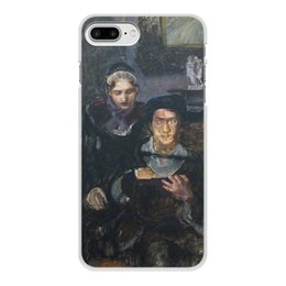 """Чехол для iPhone 8 Plus, объёмная печать """"Гамлет и Офелия (картина Михаила Врубеля)"""" - картина, живопись, шекспир, литература, врубель"""