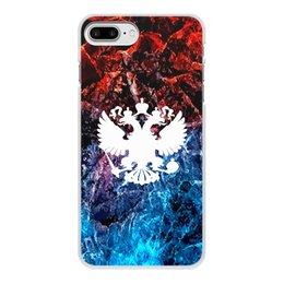 """Чехол для iPhone 8 Plus, объёмная печать """"Флаг России"""" - россия, герб, russia, орел, флаг"""