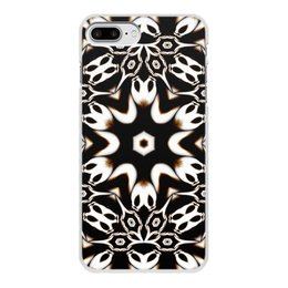 """Чехол для iPhone 8 Plus, объёмная печать """"Кофейный"""" - подарок, абстракция, фрактал, digital art, спектр"""
