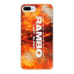 "Чехол для iPhone 8 Plus, объёмная печать ""Rambo"" - рембо, боевик, rambo, sylvester stallone, сильвестер сталлоне"