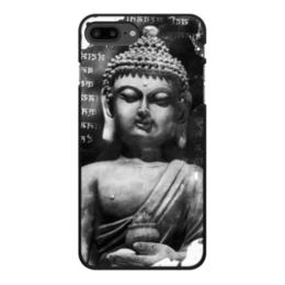 """Чехол для iPhone 8 Plus, объёмная печать """"Будда (Письмена)"""" - философия, buddha, будда, буддизм, духовность"""