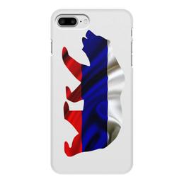 """Чехол для iPhone 8 Plus, объёмная печать """"Русский Медведь"""" - bear, медведь, русский, флаг, russian"""