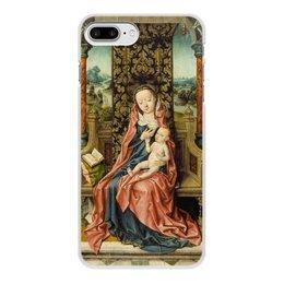 "Чехол для iPhone 8 Plus, объёмная печать ""Мадонна с младенцем на троне (Альберт Баутс)"" - картина, живопись, возрождение, баутс"