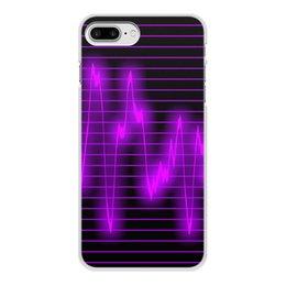 """Чехол для iPhone 8 Plus, объёмная печать """"Мелодия"""" - музыка, узор, звук, краски, звуковая волна"""