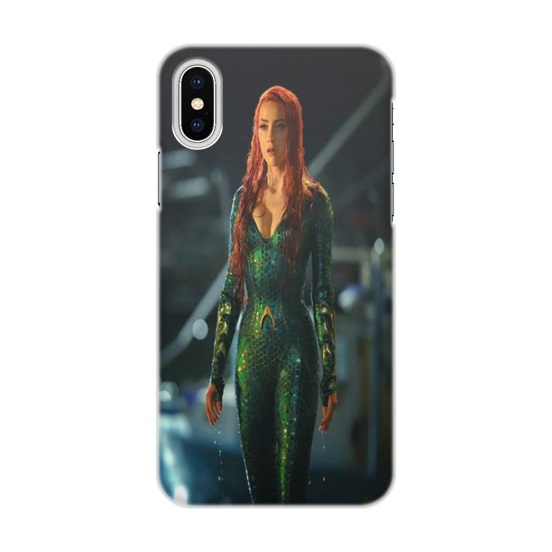 Чехол для iPhone X/XS, объёмная печать Printio Aqvawoman. чехол для iphone x объёмная печать printio девушка с жемчужной серёжкой ян вермеер