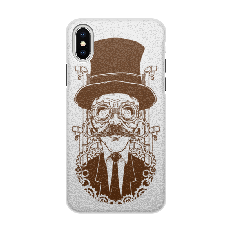 Чехол для iPhone X/XS, объёмная печать Printio Steampunk чехол для iphone x xs объёмная печать printio гомер