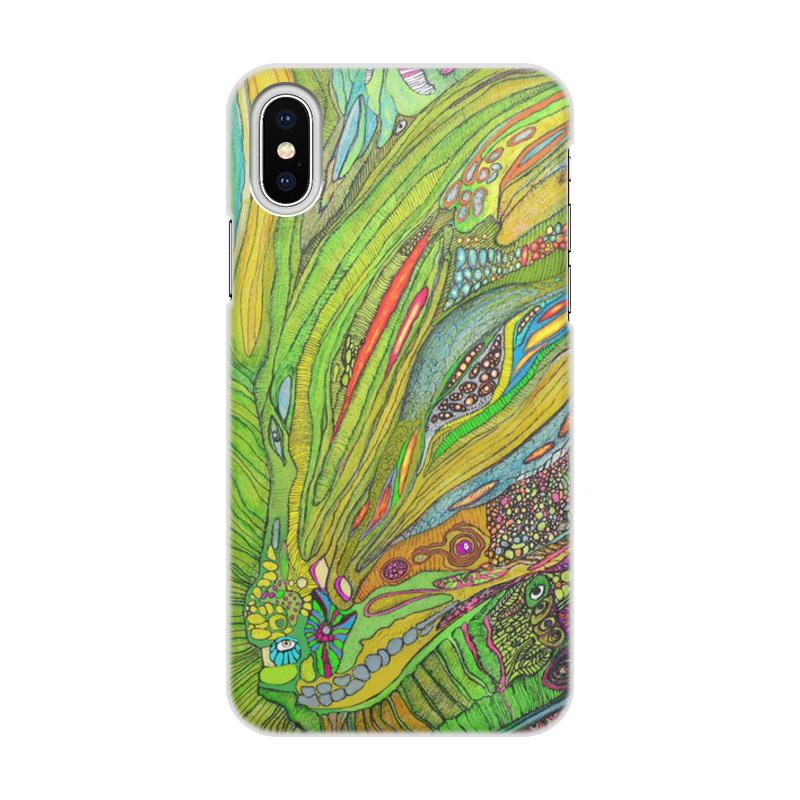 лучшая цена Чехол для iPhone X/XS, объёмная печать Printio Ом дракон хs