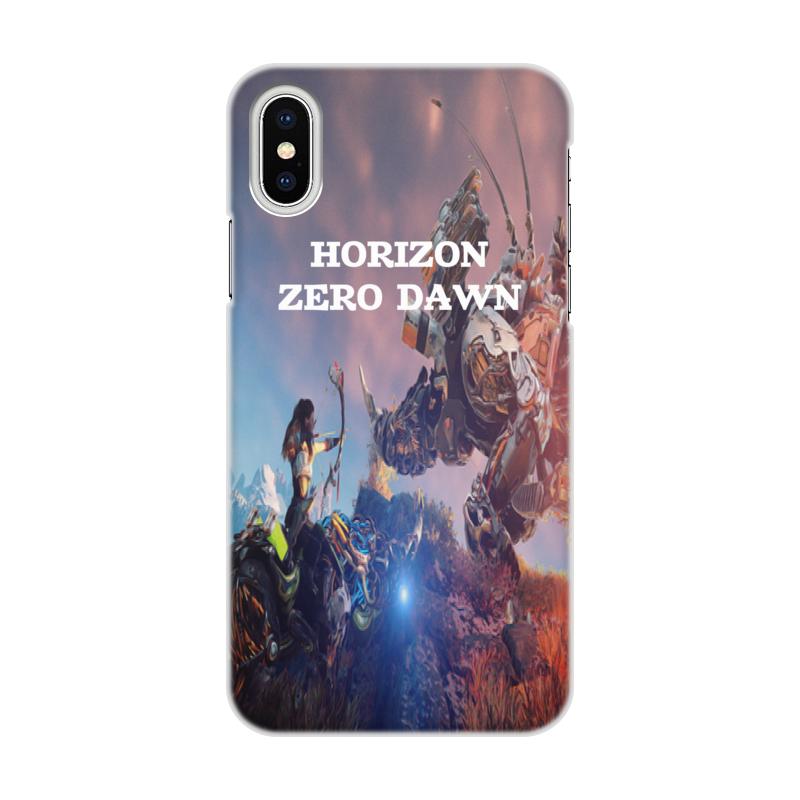 Чехол для iPhone X/XS, объёмная печать Printio Horizon zero dawn чехол для iphone x xs объёмная печать printio гомер