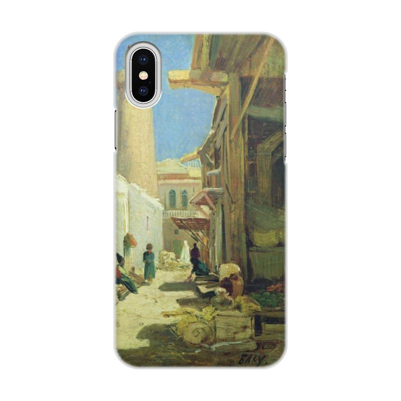Чехол для iPhone X/XS, объёмная печать Printio Баку. улица в полдень (алексей боголюбов)