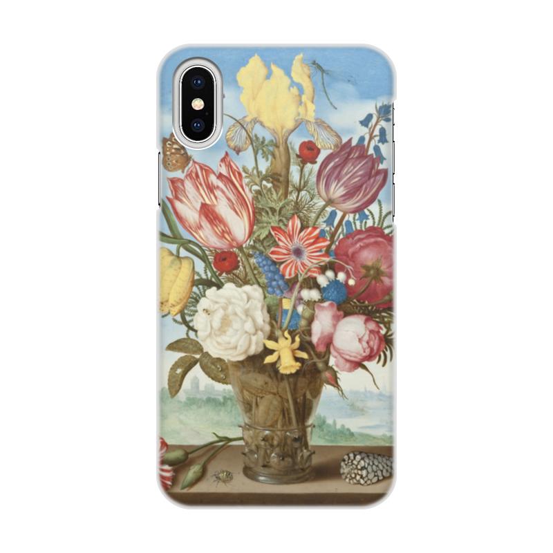 Чехол для iPhone X, объёмная печать Printio Букет цветов на полке (амброзиус босхарт) амброзиус босхарт