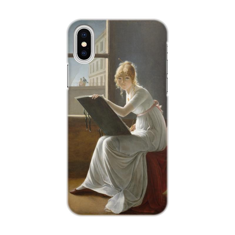 Чехол для iPhone X/XS, объёмная печать Printio Портрет молодой женщины (мари-дениз вильер) чехол для iphone 8 объёмная печать printio портрет молодой женщины мари дениз вильер худож