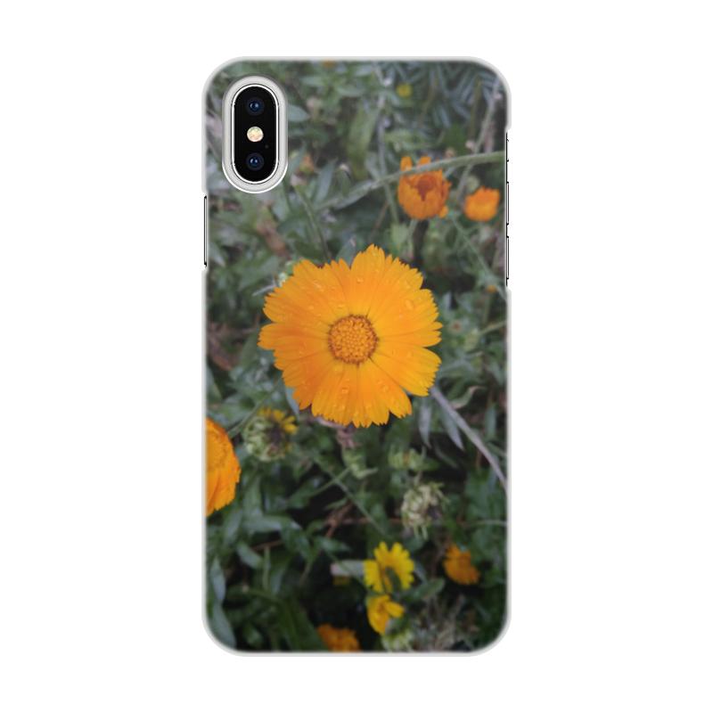 Чехол для iPhone X/XS, объёмная печать Printio Летние цветы чехол для iphone x xs объёмная печать printio цветы