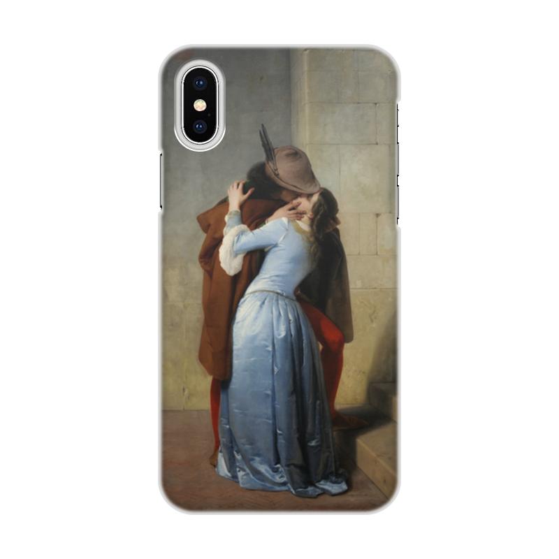 Чехол для iPhone X/XS, объёмная печать Printio Поцелуй (франческо айец) чехол для iphone 6 глянцевый printio поцелуй музы