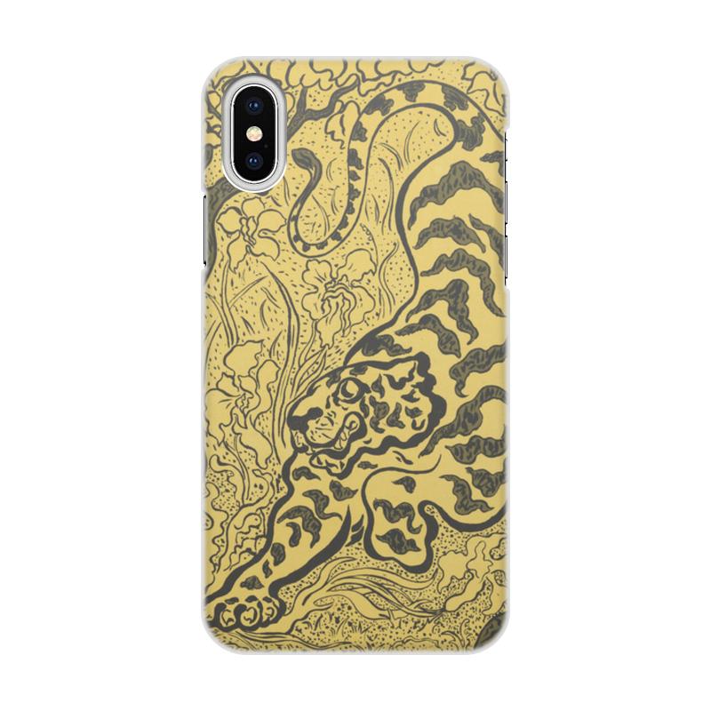 Чехол для iPhone X/XS, объёмная печать Printio Тигр в джунглях (поль-элье рансон) тигр дизайн кожа pu откидной крышки кошелек карты держатель чехол для lg nexus 5x
