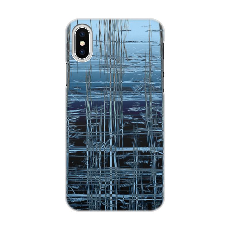 Чехол для iPhone X/XS, объёмная печать Printio Ледяной срез и и лажечников ледяной дом