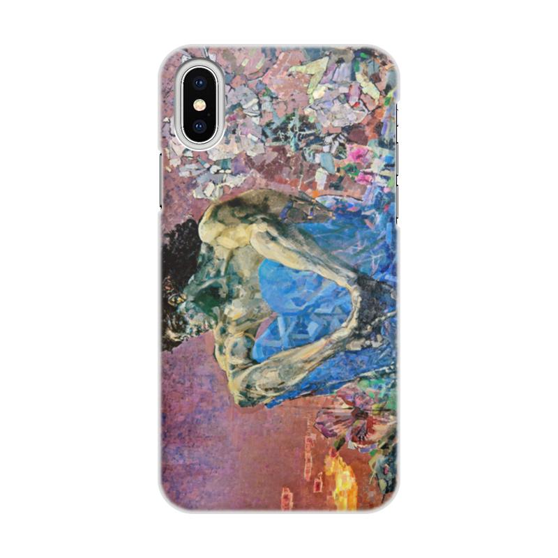 Чехол для iPhone X/XS, объёмная печать Printio Демон сидящий (михаил врубель) чехол для iphone 6 глянцевый printio архангел михаил