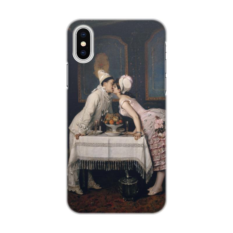 Чехол для iPhone X/XS, объёмная печать Printio Поцелуй (огюст тульмуш) чехол для iphone 6 глянцевый printio поцелуй музы