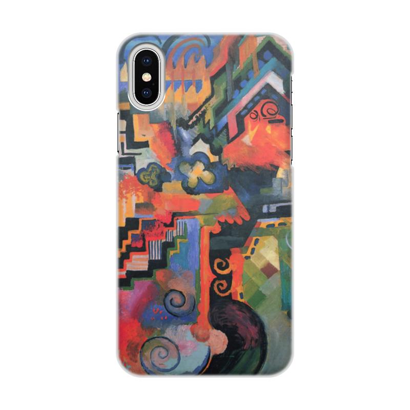 Чехол для iPhone X/XS, объёмная печать Printio Цветовая композиция (август маке) платье без рукавов printio парусник в тегернзее август маке