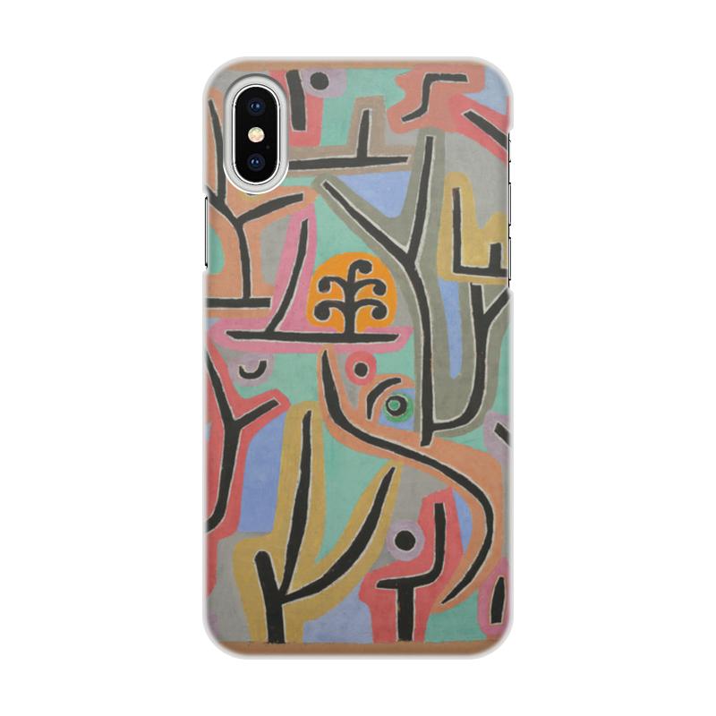 лучшая цена Чехол для iPhone X/XS, объёмная печать Printio Парк возле лю (пауль клее)