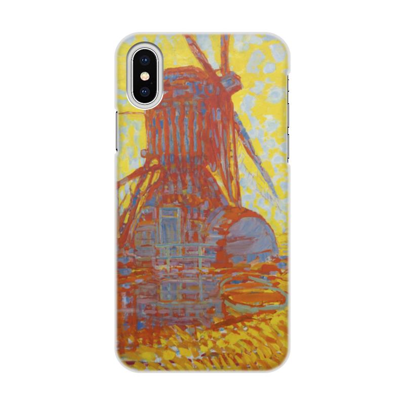 Чехол для iPhone X объёмная печать Printio Ветряная мельница в солнечном свете