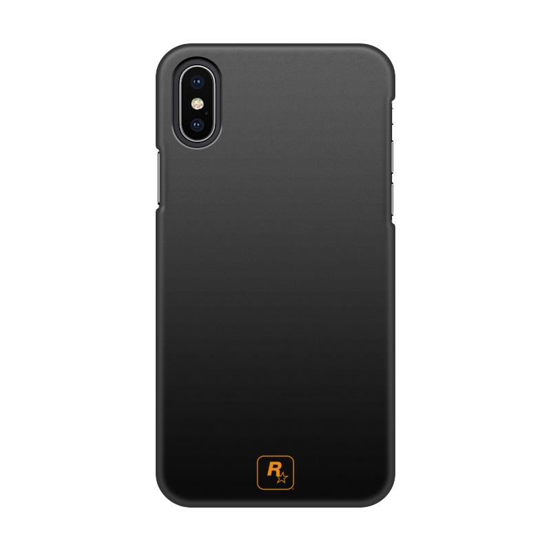 Чехол для iPhone X/XS, объёмная печать Printio R* design orange